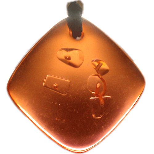 Quantum Balance Crystals QBC pendants, orange