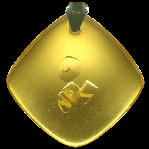 Quantum Balance Crystals QBC pendants, yellow